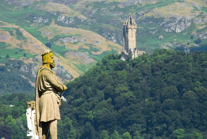 Bruce and The Wallace Monument